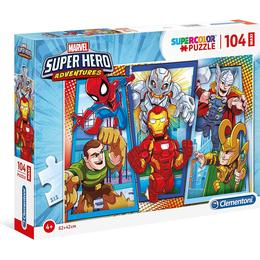 Clementoni Supercolor Marvel Super Hero Adventures 104 Pieces