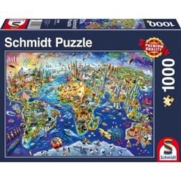 Schmidt Discover the World 1000 Pieces