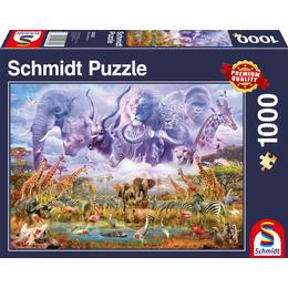 Schmidt Animals at The Waterhole 1000 Pieces