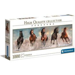 Clementoni High Quality Collection Panorama Horses 1000 Pieces