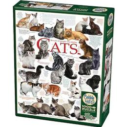 Cobblehill Different Cat Breeds 1000 Pieces