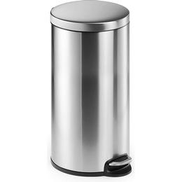 Durable Pedal Bin Stainless Steel Round 30L