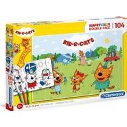 Clementoni Happycolor Kids & Cats 104 Pieces