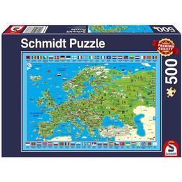 Schmidt Discover Europe 500 Pieces
