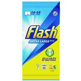 Flash Anti-Bacterial Wipes XL 24x8pcs