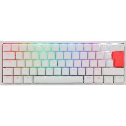 Ducky One2 Mini 60% White Frame RGB Cherry MX Red English