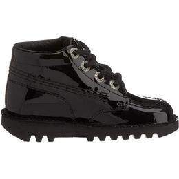 Kickers Kick Hi Zip Junior - Black Patent