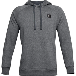 Under Armour Rival Fleece Hoodie Men - Pitch Gray Light Heather/Onyx White