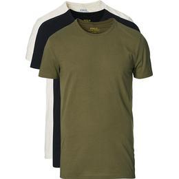 Polo Ralph Lauren Cotton Crew Neck T-shirt 3-pack - Black/Olive/Oatmeal