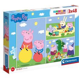 Clementoni Supercolor Peppa Pig 3x48 Pieces