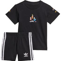 Adidas Infant's Disney Mickey & Friends Shorts & Tee Set - Black (H20322)