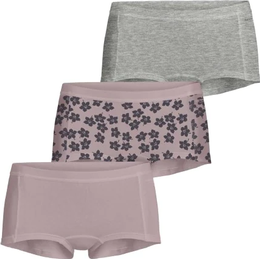 Björn Borg Graphic Floral Cotton Minishorts 3-pack - Burnished Lilac