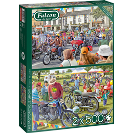 Jumbo Falcon The Motorcycle Show 2×500 Pieces