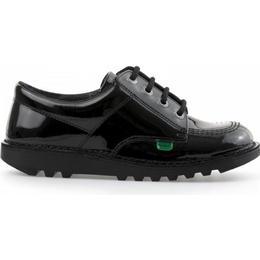 Kickers Teen Kick Lo Patent - Black
