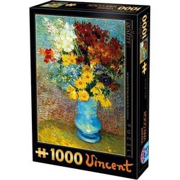 Dtoys Flowers in a Blue Vase 1000 Pieces