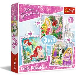 Trefl Disney Princess 3 in 1