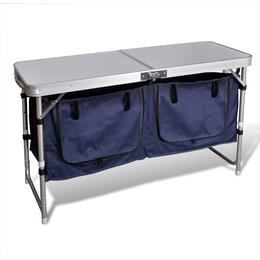 vidaXL Foldable Camping Cupboard with Aluminium Frame