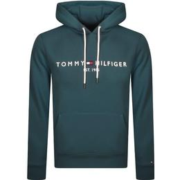 Tommy Hilfiger Logo Hoodie - Blue