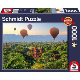 Schmidt Spiele Hot Air Balloons Mandalay Myanmar 1000 Pieces