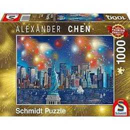 Schmidt Spiele Statue of Liberty with Fireworks 1000 Pieces