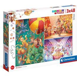 Clementoni Supercolor The Circus 3x48 Pieces