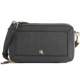 Lauren Ralph Lauren Crosshatch Leather Danna Crossbody Bag - Black