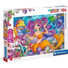 Clementoni Supercolor Beautiful Mermaid Jewels 104 Pieces