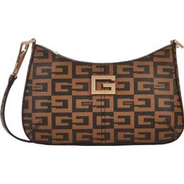 Guess 40th Anniversary TZ Shoulder Bag - Brown/Multi