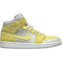 Nike Air Jordan 1 Mid SE - Grey Fog/Lemon Wash/White