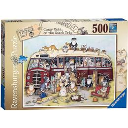 Ravensburger Crazy Cats on the Coach Trip 500 Pieces