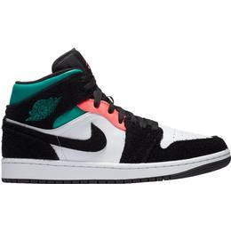 Nike Air Jordan 1 Mid SE M - White/Black/Neptune Green/Hot Punch