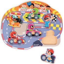 Janod Happy Racing Puzzle 6 Pieces
