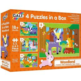 Galt 4 Puzzles in a Box Woodland