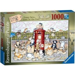 Ravensburger Crazy Cats Lost in The Post 1000 Pieces