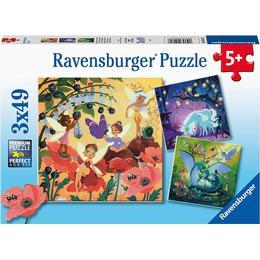 Ravensburger Unicorn Dragon & Fairies 3x49 Pieces