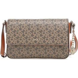 DKNY Bryant Medium Flap Handbag - Chino/Caramel