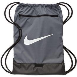 Nike Brasilia Gymsack - Flint Grey/Flint Grey/White