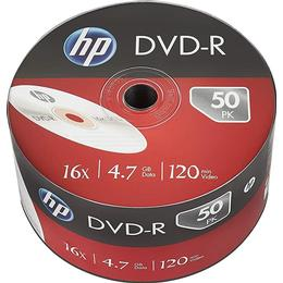 HP DVD-R 4.7GB 16x Spindle 50-Pack Inkjet
