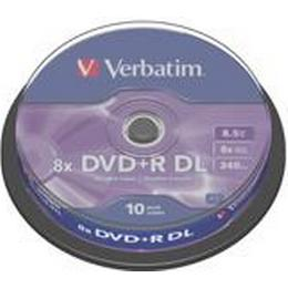 Verbatim DVD+R 8.5GB 8x Spindle 10-Pack