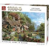 Classic Jigsaw Puzzles King Cottage Collection Riverside Home in Bloom 1000 Pieces