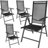 Outdoor Furniture tectake 4 aluminium garden chairs Garden Dining Chair