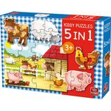 Classic Jigsaw Puzzles King Kiddy 5 in 1 Farm 12 Pieces