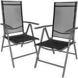 Outdoor Furniture tectake 2 aluminium garden chairs Garden Dining Chair