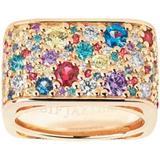 Sif Jakobs Novara Quadrato Ring - Gold/Multicolour