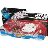 Hot Wheels Star Wars Tie Fighter Vs Millennium Falcon Starship