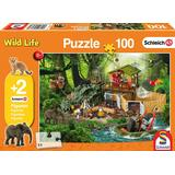 Classic Jigsaw Puzzles Schmidt Schleich Croco Research Station 100 Pieces