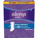 Menstrual Pads & Pantiliners Always Dailies Extra Protect Large 52-pack