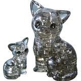 Jigsaw Puzzles Hcm-Kinzel Crystal Cat Couple 49 Pieces