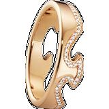 Georg Jensen Fusion End Ring - Rose Gold/Diamonds
