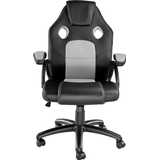 Fabric office chair Gaming Chairs tectake Mike Gaming Chair - Black/Grey